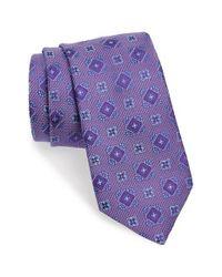 David Donahue   Purple Medallion Silk Tie for Men   Lyst