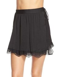 Free People | Black Tie Side Half Slip | Lyst