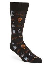 Hot Sox | Black 'coffee' Socks | Lyst