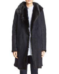JOSEPH | Black 'anais' Genuine Toscana Shearling Coat | Lyst