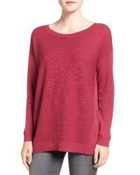 Trouvé - Pink Corrugated Stitch Pullover - Lyst