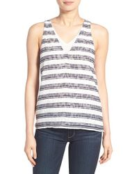Cooper & Ella - Multicolor 'tori' Stripe Layered V-neck Tank - Lyst