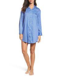 Lauren by Ralph Lauren   Blue Lauren By Ralph Lauren Paisley Sleep Shirt   Lyst