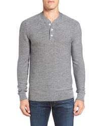 Bonobos | Gray Merino Wool Knit Henley for Men | Lyst