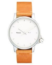 Miansai | White 'm24' Leather Strap Watch for Men | Lyst