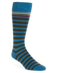 Paul Smith | Blue Stripe Socks for Men | Lyst