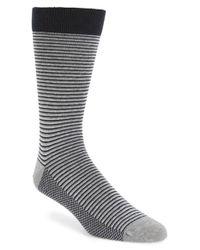 Ted Baker | Gray Stripe Organic Cotton Blend Socks for Men | Lyst