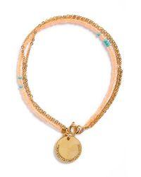 Half United | Orange 'the Laurel' Beaded Bracelet | Lyst