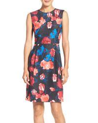 Ivanka Trump - Multicolor Sleeveless A-line Dress - Lyst