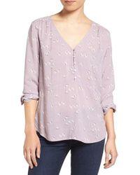 Hinge   Pink Shirred Blouse   Lyst