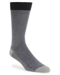 Ted Baker | Gray Microcheck Organic Cotton Blend Socks for Men | Lyst