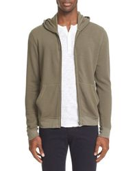 ATM - Green French Terry Full Zip Hoodie for Men - Lyst