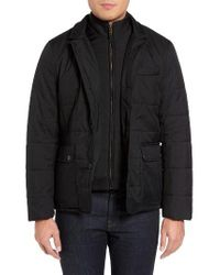 Ted Baker | Black Jasper Trim Fit Quilted Jacket With Removable Bib for Men | Lyst