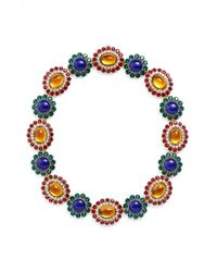 Miu Miu - Blue 'rebels' Crystal Necklace - Lyst