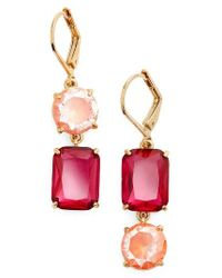 Kate Spade | Pink Kate Spade Shine On Mismatched Drop Earrings | Lyst