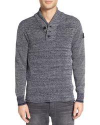G-Star RAW - Gray 'dadin' Shawl Collar Sweater for Men - Lyst