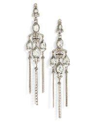 Tasha | Metallic Shoulder Duster Earrings | Lyst