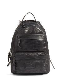 John Varvatos | Black 'detroit' Suede Backpack for Men | Lyst