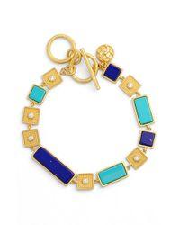 Freida Rothman - Blue 'bricked Lapis' Stacked Bracelet - Lyst