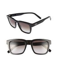 Ferragamo | Black 51mm Square Sunglasses | Lyst