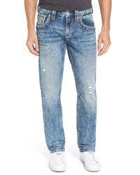 Rock Revival - Blue Straight Leg Jeans for Men - Lyst