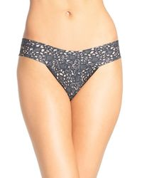 Hanky Panky | Black 'venise Eve' Low Rise Thong | Lyst