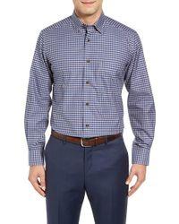 David Donahue - Blue Regular Fit Check Sport Shirt for Men - Lyst