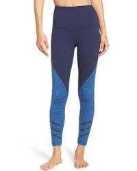 Zella | Blue Arrow High Waist Midi Leggings | Lyst