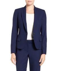 Anne Klein   Blue One-button Suit Jacket   Lyst