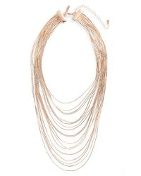 TOPSHOP | Metallic Multistrand Chain Necklace | Lyst