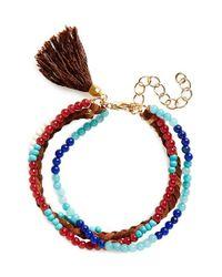 Panacea - Multicolor Multistrand Bracelet - Lyst