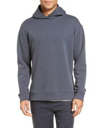 VINCE | Gray Side Zip Pullover Hoodie for Men | Lyst