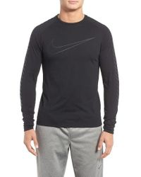 Nike | Black Breathe City Running T-shirt for Men | Lyst