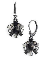 Marchesa - Black Drop Earrings - Lyst