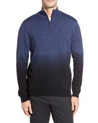 Bugatchi | Blue Ombre Quarter Zip Sweater for Men | Lyst