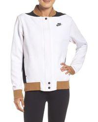 Nike | White Tech Fleece Destroyer Jacket | Lyst