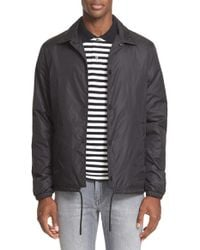 Acne Studios - Black 'tony' Water Repellent Coach Jacket for Men - Lyst