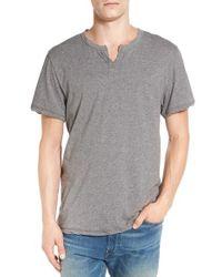 Alternative Apparel | Gray Notch Neck T-shirt for Men | Lyst