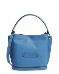 Longchamp | Orange '3d' Leather Crossbody Hobo | Lyst