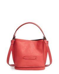 Longchamp | Blue '3d' Leather Crossbody Hobo | Lyst