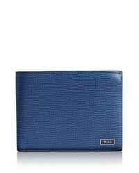 Tumi | Blue 'monaco' Global Double Billfold Leather Wallet for Men | Lyst