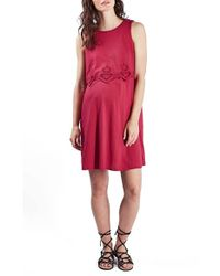 TOPSHOP - Pink Cutwork Popover Maternity Dress - Lyst