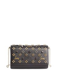 Christian Louboutin | Multicolor Paloma Empire Calfskin Clutch - None | Lyst