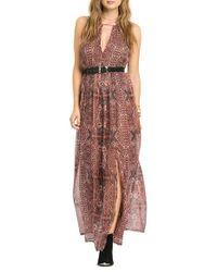 Amuse Society | Red 'Benicia' Maxi Dress | Lyst