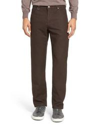 Bugatchi   Brown Slim Fit Five-pocket Pants for Men   Lyst