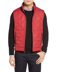 Bugatchi | Red Uomo Hooded Quilted Vest for Men | Lyst