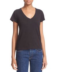 Re/done - Black X Hanes '1960s Slim' V-neck Tee - Lyst