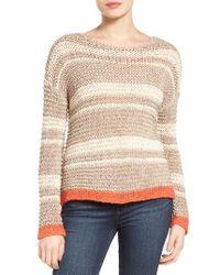 Caslon | Multicolor Caslon Stripe Open Stitch Sweater | Lyst