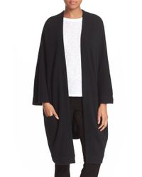 VINCE | Black Open Front Cashmere Knit Coat | Lyst