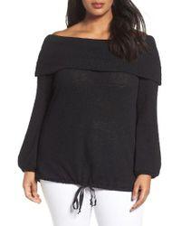 Caslon | Black Caslon Off The Shoulder Sweater | Lyst